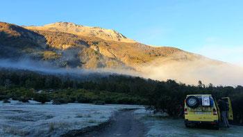 Morgenstimmung beim Libre Camping Lago Villarino
