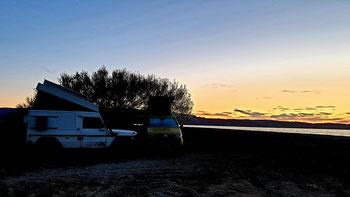 Sonnenaufgang beim Lago Posadas