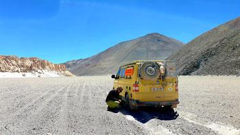 Luft muss raus: Unterwegs zum Crater Corona del Inca