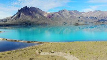 Übernachtungsplatz beim Lago Belgrano im Nationalpark Perito Moreno
