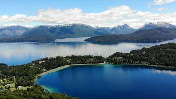 Ausblick in Villa la Angostura auf den Lago Nahuel Huapi
