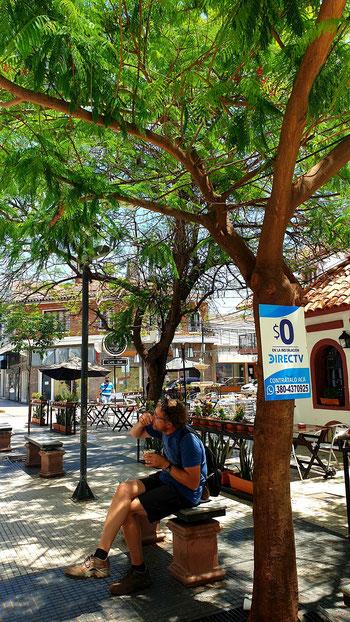 Die Fussgängerzone in La Rioja