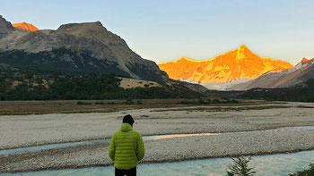 Morgenstimmung: Blick auf den Cerro San Lorenzo