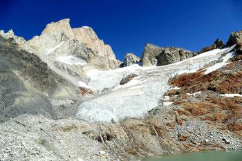 Cerro Mermoz und Guillaumet beim Bivak Piedra Negra
