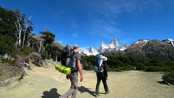 Unterwegs zum Campamiento Poincenot beim Cerro Fitz Roy