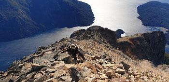 Aufstieg auf den Cerro Lopez über die Nordroute