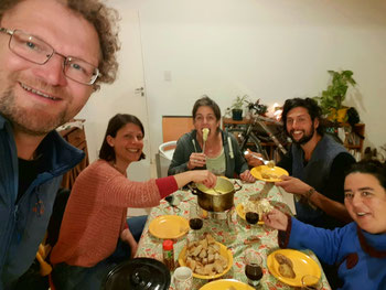 1. August Feier in Argentinien mit Käsefondue