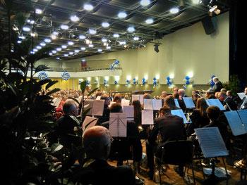 Städtischer Musikverein Erkelenz beim Neujahrsempfang 2020 in der Erkelenzer Stadthalle