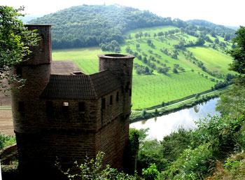 Burgruine Schadeck über dem Neckar