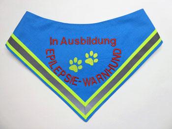 Halstuch für Epilepsiewarnhund,In Ausbildung, AZUBI, Epilesie, Warnhund, Halstuch, Hundehalstuch, Hund