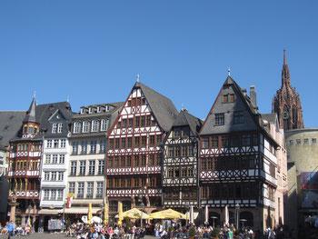 Römerberg Ostzeile Dom Frankfurt