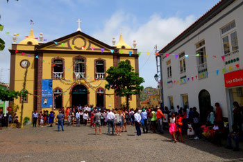 Celebration in front of the Cathedral at Nossa Sra do Rosário