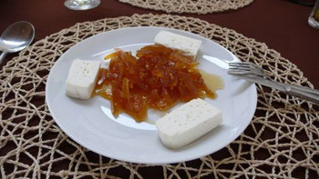 Queijo de Cabra with dulce de papaya. Source picture: Pinterest