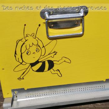 Dessin sur la ruche de Magali Perez