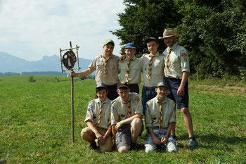 Pfadfinderteam der Jungs - regionales Sommercamp 2015