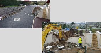 aperçu du chantier avant et après travaux