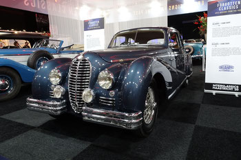 Een Delahaye op de Techno Classica 2015 in Essen.