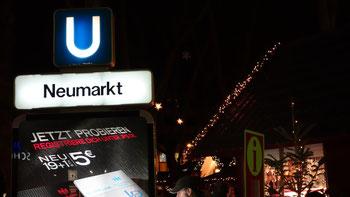 Per arrivare al mercatino di Neumarkt si prende la Metro No 16 e 18