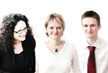 Ulrike Exner, Geschäftsführerin; Dr. Katrin Burk, Geschäftsführerin; Egbert Exner, Projektmanagement