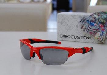 クロスカントリースキー用に、オークリー・ハーフジャケット2.0を自分だけのオリジナルサングラス・OCEでお作りいただきました。