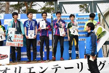 オリエンテーリング全日本選手権(ロングディスタンス)にて表彰式