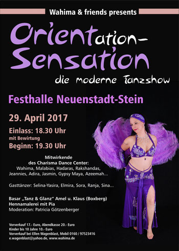 Tanzshow im April 2017
