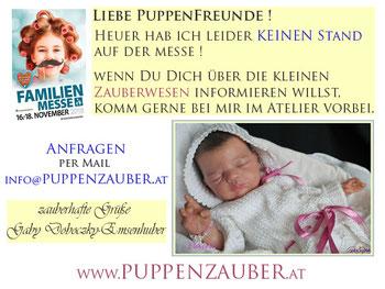 puppenzauber.at gabriele doboczky emsenhuber rebornartist österreich rebornbaby rebornpuppe reborn familienmesse klagenfurt 2018