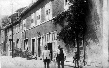 """Eugen und Josef Wilhelm (der """"letzte"""" Kastner-Sternenwirt vor der Metzi, ca. 1915"""