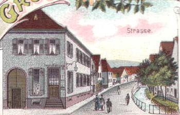 Geschäft im Oberdorf, Postkarte um 1920