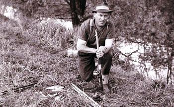 Gründungsmitglied Franz Rastetter am Tankgraben (vermutlich 1969)