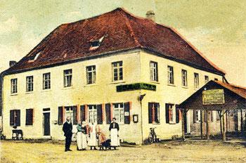 Das Gasthaus Kreuz um 1910 (Foto Heimatfreunde Malsch)