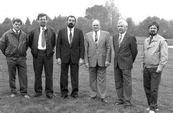 1988 Verwaltung: Walter Knam, Ferdinand Feißt, Theodor Maisch, Günter Jäger, Alfred Klippstein. Es fehlen Detlef Piepenstock, Herbert Durm.