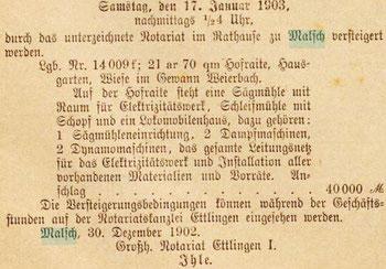 14.1.1903 Mittelbadischer Kurier
