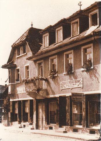ursprünglicher Sitz des Geschäfts in derHauptstraße