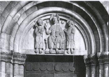 Tympanon der Abtei Rheinmünster-Schwarzach