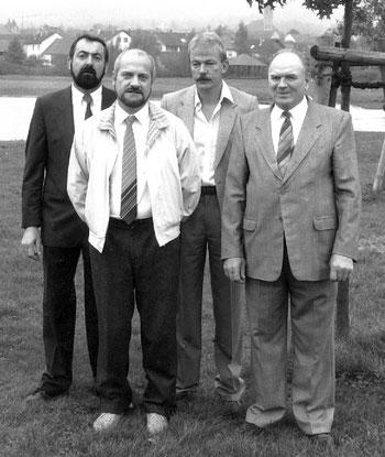 Theodor Maisch, Reinhold Weishaupt, Paul Graf, Adam Walter - es fehlt Hans Wöber.