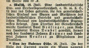 Karlsruher Tagblatt 28.7.1913