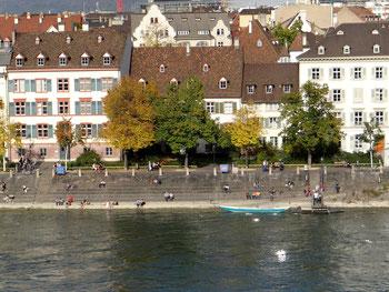 Ansicht von Basel Rhein und Schweiz