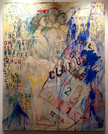 Claudus - Alessandra Pasqualoni, pigmenti puri su tessuto