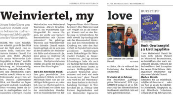 """Presseartikel über Gabriele Dienstls Reiseführer """"Lieblingsplätze Weinviertel"""""""
