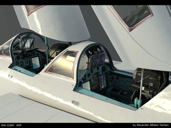 Cockpit del MiG-31BM