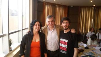 de izq a der. Camila Zabala, de Aireana; Sergio Maulen de Akahatá y Gonzalo Collazo Fabbri de Ovejas Negras