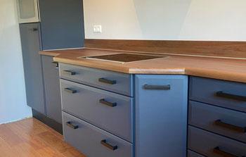 Betonlook keuken Keukenwrappen Keuken plakken grijs Wit Helmond