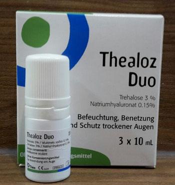 Thealoz Duo Augentropfen Test (Trockene Augen, Sicca Syndrom)