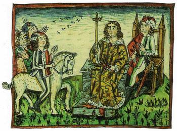 Herzogseinsetzung eines meinhardinischen Herzogs von Kärnten auf dem Zollfeld