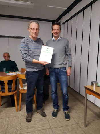 Walter Strehlow und Florian Weinmann (Obmann Schiedsrichterguppe Dinslaken)