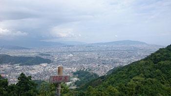 標高420m余ですが静岡市が一望の絶景