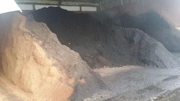 これが堆肥化された生ごみ