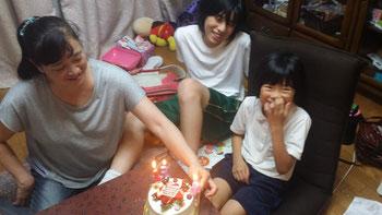2人とも今日が誕生日(13歳と8歳)