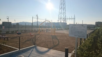 静岡市で無償土地提供公園第1号となった三保陽だまり公園